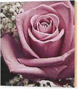 Vintage Rose Wood Print