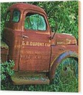 Vintage Rusted Dodge Truck Wood Print