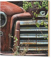 Vintage Rusty Dusty Gmc Graveyard Truck Wood Print
