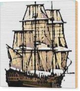 Vintage Sails Wood Print