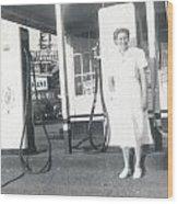 Vintage Service Station Wood Print
