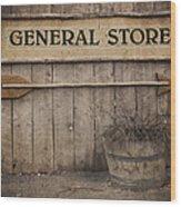 Vintage Sign General Store Wood Print