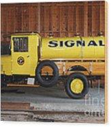 Vintage Signal Gasoline Truck . 7d12935 Wood Print