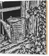 Vintage Sprinkling Can Wood Print
