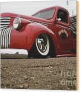 Vintage Style Hot Rod Truck Wood Print