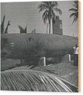 Vintage Submarine Wood Print
