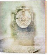 Vintage Train Engine Wood Print