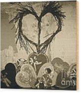 Vintage Valentine  Wood Print