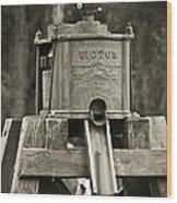 Vintage Water Pump Wood Print