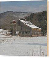 Vintage Weathered Wooden Barn Wood Print