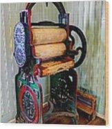 Vintage Wringer Wood Print