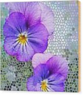 Viola On Glass Wood Print