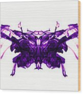 Violet Abstract Butterfly Wood Print