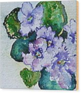Violet Cluster Wood Print