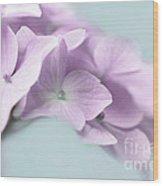 Violet Hydrangea Flower Macro Wood Print