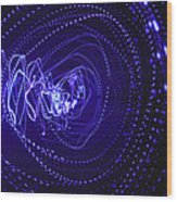 Violet Neon Lights 2 Wood Print