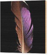 Violet Splendor Wood Print