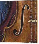 Violin Composition Wood Print