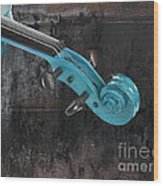 Violinelle - Turquoise 05a2 Wood Print