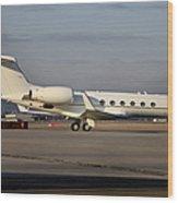 Vip Jet C-37a Of Supreme Headquarters Wood Print