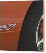 Viper Srt 10 Emblem And Wheel Wood Print