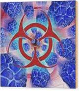 Viral Pathogens, Conceptual Artwork Wood Print
