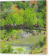 Virgin River Crossing Wood Print