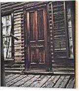 Virginia City Ghost Town Door I Wood Print