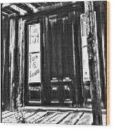 Virginia City Ghost Town Door II Wood Print