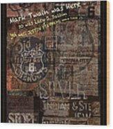 Virginia City Nevada Grunge Poster Wood Print