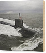 Virginia-class Attack Submarine Wood Print by Stocktrek Images