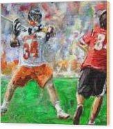 College Lacrosse 10 Wood Print
