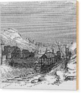 Virginia: Salt Mine, 1857 Wood Print