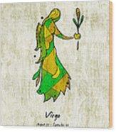 Virgo Artwork Wood Print