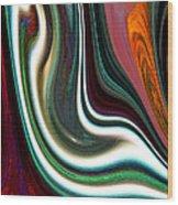 Visceral Wood Print by Ginny Schmidt