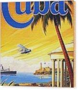 Visit Cuba Wood Print