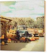 Visit The Pumpkin Patch Wood Print