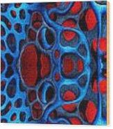 Vital Network II Design Wood Print