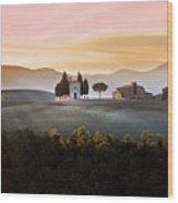 Vitaleta Chapel At Sunset Wood Print