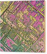 Vitamin B12 Crystal Wood Print
