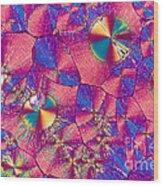 Vitamin B3 Crystal Wood Print