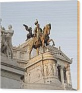 Vittoriano. Monument To Victor Emmanuel II. Rome Wood Print