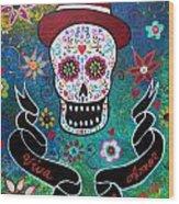 Viva El Amor Day Of The Dead Wood Print