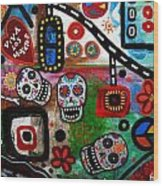 Viva Tres Muertos Wood Print