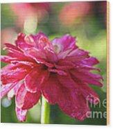 Vivid Floral Wood Print