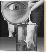 Vivisection Wood Print by Victor De Schwanberg