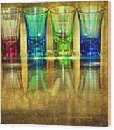 Vodka Glasses Wood Print by Svetlana Sewell