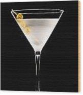 Vodka Martini Wood Print