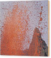 Volcanic Eruption, Spatter Cone Wood Print