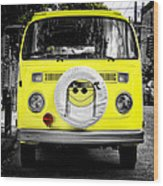 Volkswagon Hippie Bus Wood Print